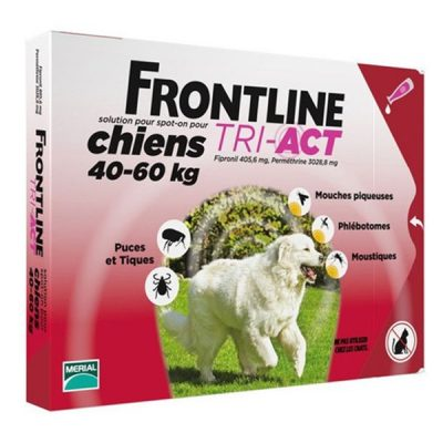 Frontline Tri-Act Xl Sol Cao 40-60kg 6mlx3