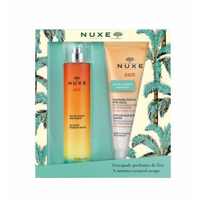 nuxe-coffret-sun-eau-delicieuse-agua-perfumada-100ml-200ml